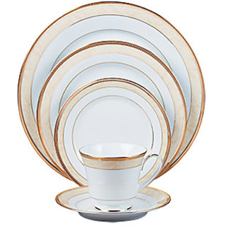 Noritake Loxley - Plates + Cup  Saucer Dinner Set (Set of 5 Pcs)