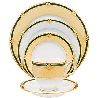 Noritake Braidwood Plates+ Cup  Saucer Dinner Set (5 Pcs Set)