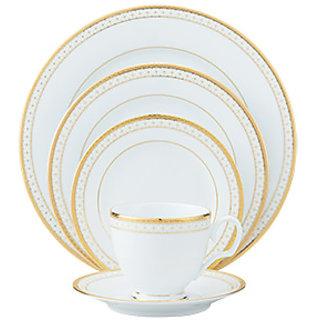Noritake Rochester Gold - Plates + Cup  Saucer Dinner Set (51 Pcs Set)