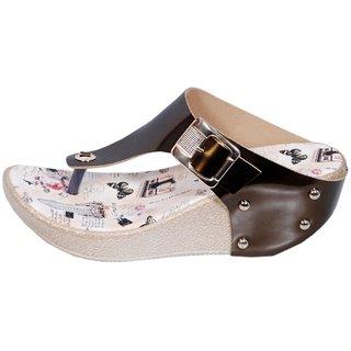 T-Strap Multi Color Wedges Heels