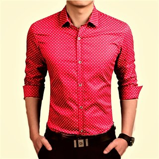 Spykey Red Dotted Shirt