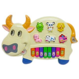 Pianism Funny Musical Cow Educational Piano Keyboard Toy Game for Kids Children