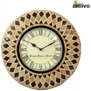 ARTLIVO Bamboo Inlay Wall Clock Light WC005