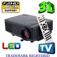 BRAND NEW FULL HD 130INCH DISPLAY LED PROJECTOR WITH 40