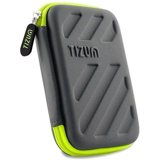 TIZUM External Hard Drive Case for 2.5-Inch Hard Drive, GPS -Premium Edition (Grey)