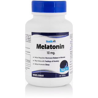 Healthvit Melatonin 10mg Regulates  For Sleep Cycle 60 Tablets