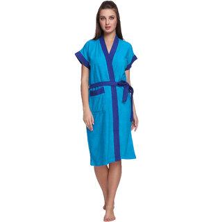 Vixenwrap Midnight Blue Cotton Bathrobe