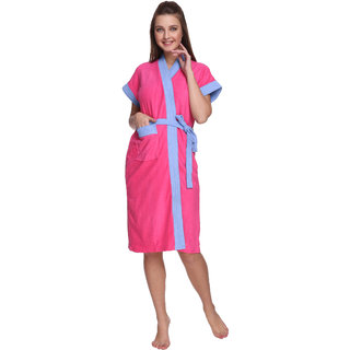 Vixenwrap Hollywood Pink Cotton Bathrobe