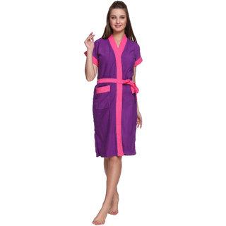 Vixenwrap Royal Purple Cotton Bathrobe