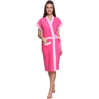 Vixenwrap Cute Pink Cotton Bathrobe