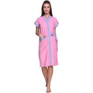 Vixenwrap Baby Pink Cotton Bathrobe