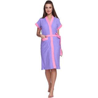 Vixenwrap Lilac Purple Cotton Bathrobe