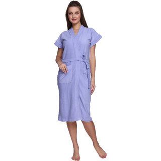 Vixenwrap Carolina Blue Cotton Bathrobe