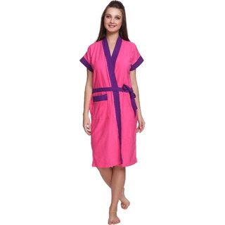 Vixenwrap Hot Pink Cotton Bathrobe