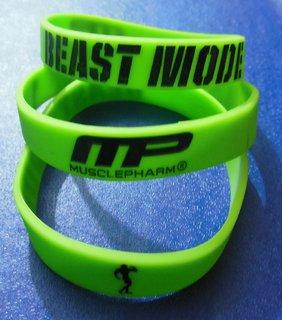 MusclePharm, Beast Mode Wrist Bands 12mm Neon Colour