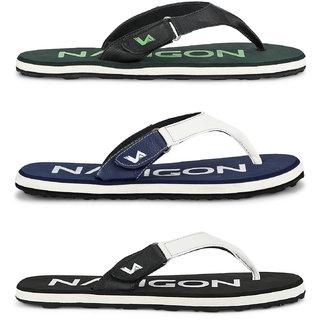 c2d6bfca91ee Buy Navigon Men s Multicolor Slippers (Pack of 3 Online   ₹1499 ...