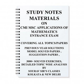 STUDY MATERIAL FOR CMI MSC APPLICATIONS OF MATHEMATICS WITH TOPIC WISE ANALYSIS +20 MODEL SOLVED PAPERS+ PREVIOUS YEAR S