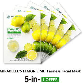 Mirabelle Korea Herbs Fairness Facial Mask (A Pack Of 5)