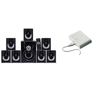 Combo of Ikall Tanyo 7.1 Speaker System with 12000mAh PowerBank