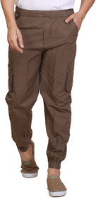 Abc Garments Biege Cargo Pants For Mens