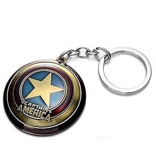Golden Captain America Spinner Version Key chain