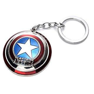 Silver Captain America Spinner Version Key chain