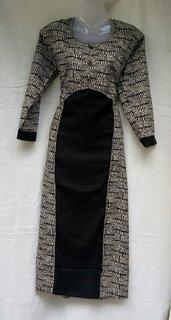 Anushka Collection Black Cotton Printed Stitched Kurti