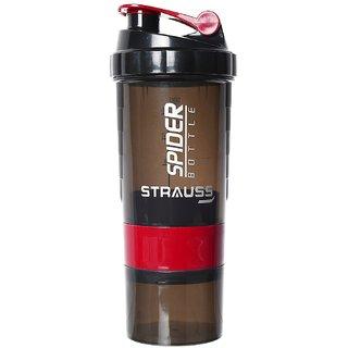 Strauss Spider Shaker Bottle, 500ml (Red)