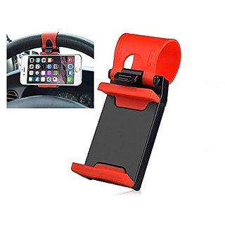 KSJ Universal Mobile Car Steering Wheel Holder - Assorted Color
