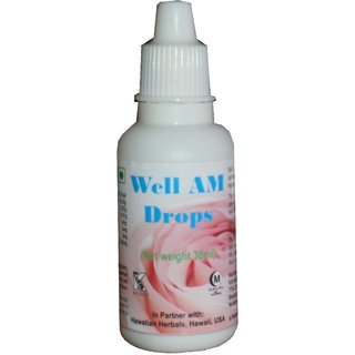 Hawaiian Herbal, Hawaii,USA - Well Am Drops  - 30 ml (Buy any Healthcare Supplement  Get the Same Drops Free)