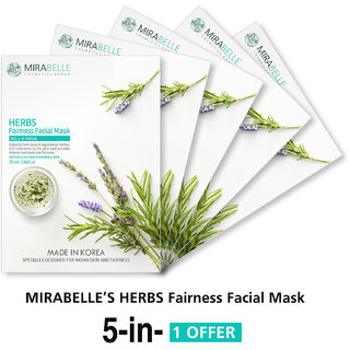 Mirabelle Korea Lemon Lime Fairness Facial Mask (A Pack Of 5)