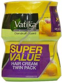 Vatika Hair Styling Cream Dandruff Guard 140ml each (Pack Of 2)