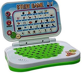 Imstar Educational Learning Kids Laptop, Study Game Kids Mini Laptop English Learner Study Game Computer Notebook Toy