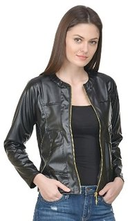 Rosella Biker Black Full Faux Leather Jacket