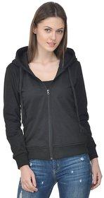 Raabta Fashion Black Sweatshirt for Women
