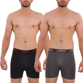 Zotic Men's Trunk 'H' Underwear - Pack Of 2