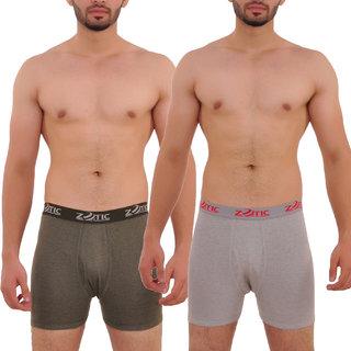 Zotic Men's Trunk 'H' Underwear - Pack Of 2