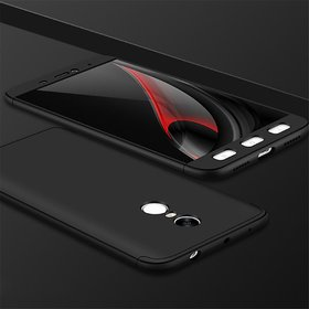 REDMI NOTE 4 BLACK (360 Degree Full Body Protection Cover with Tempered Glass)