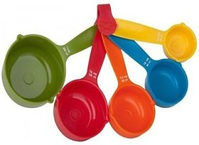 5 Pcs Colorful Plastic Measuring Spoon Set