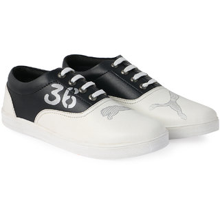 Bombayland White and Black Casual Shoes for Men