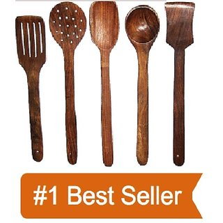 Wooden kitchen tools set of 5