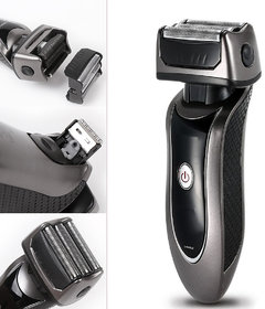Men's 3 Heads Rechargeable Waterproof Triple Blade Foil Shaver Trimmer Electric Razors with Sideburns Trimmer