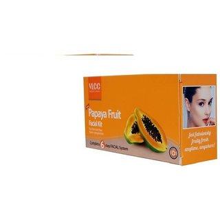 VLCC Papaya Fruit Facial Kit 60 ml  (Set of 6)