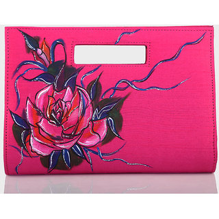 Rangrage - Clutch / Purse / Hand bag - Pleasure - Pink Color Ladies Clutches