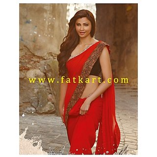 Designer Jai Ho Maroon Bollywood Saree