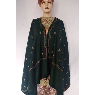 Saffanah Needle  Work (Kashmiri) Woolean Shawl