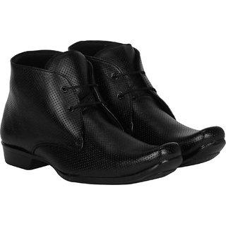 Bombayland Black Formal Long Boot for Men