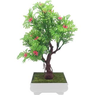 Buy random 3 branched artificial bonsai tree with green leaves and random 3 branched artificial bonsai tree with green leaves and pink flowers mightylinksfo
