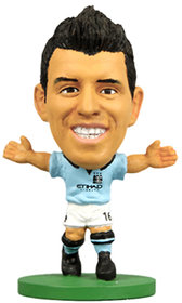 Soccerstarz Sergio Aguero Figure With Collectors Card