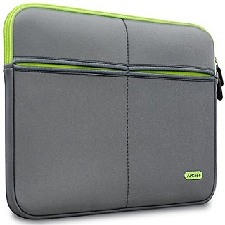 AirCase 13-Inch to 13.3-Inch Designer Laptop Protective Sleeve With Multipurpose Utility Pocket (Gray)